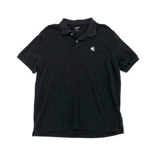 EXPRESS Men's Casual Black Collared Polo Shirt Lg
